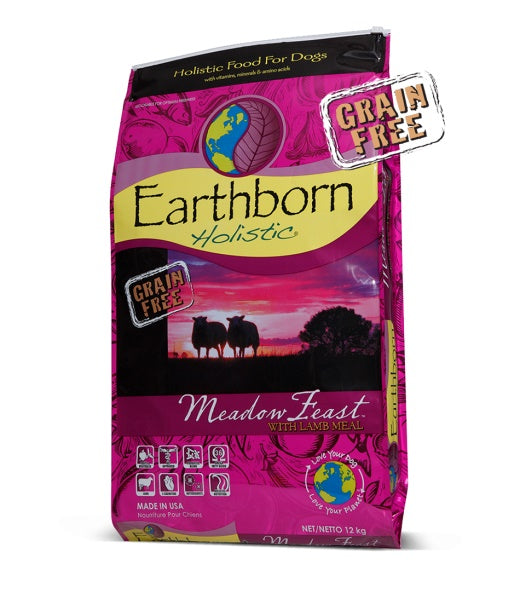 Earthborn Holistic Grain Free Meadow Feast with Lamb Meal Dog Food 28 Lbs