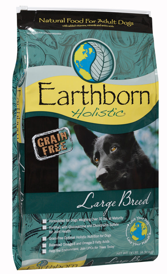 Earthborn Holistic Grain Free Large Breed Adult Dog Food 14 Lbs