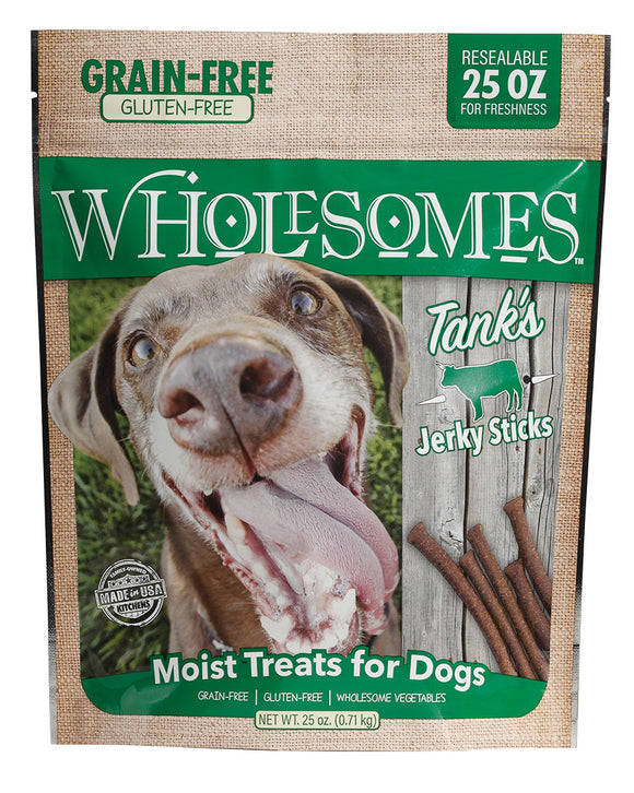 Wholesomes Tank's Jerky Stick for Dog 25 Oz