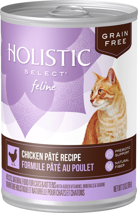Holistic Select Grain Free Chicken Pâté Recipe Cat Food 13 Oz