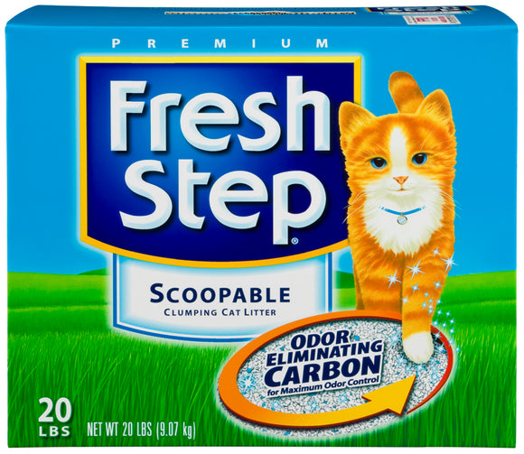 Fresh Step Odor Shield Scented Cat Litter with the Power of Febreze 20 Lbs