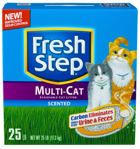 Fresh Step Multi-Cat Scented Litter with the Power of Febreze 25 Lbs