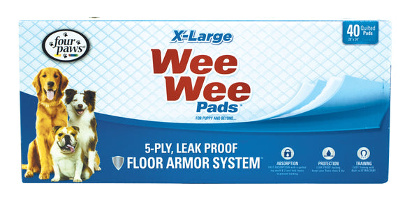 Four Paws Wee-Wee Pads for Dog X-Large X 40 Count