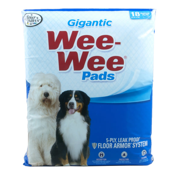 Four Paws Wee-Wee Pads for Dog Gigantic 18 Count
