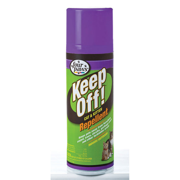 Four Paws Keep Off! Indoor & Outdoor Repellent for Cat 6 Oz