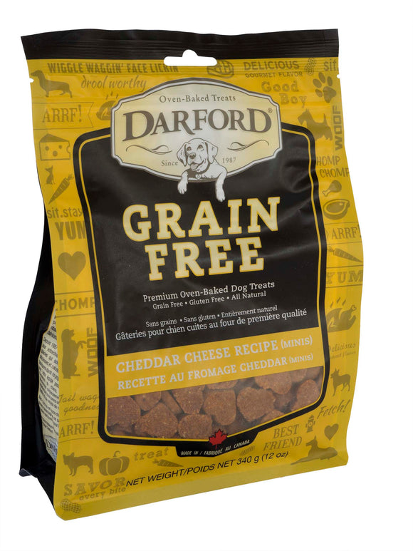 Darford Grain Free Cheddar Cheese Minis Premium Oven Baked Dog Treats 12 Oz