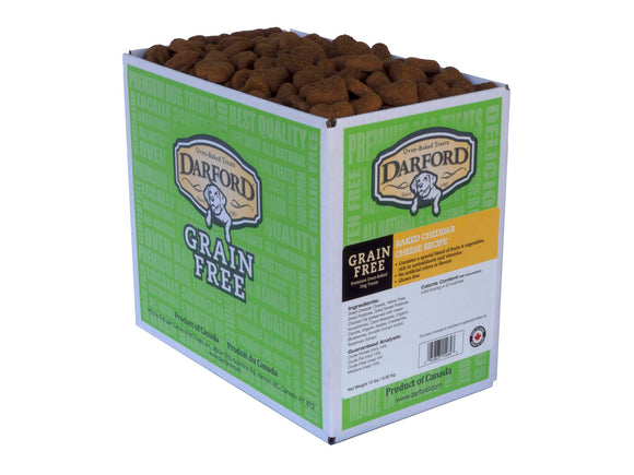 Darford Grain Free Baked Cheddar Cheese Recipe Dog Treats 15 Lbs