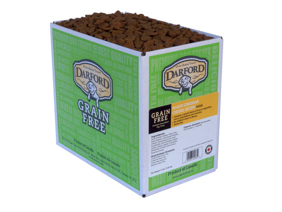 Darford Grain Free Baked Cheddar Cheese Recipe Minis Dog Treats 15 Lbs
