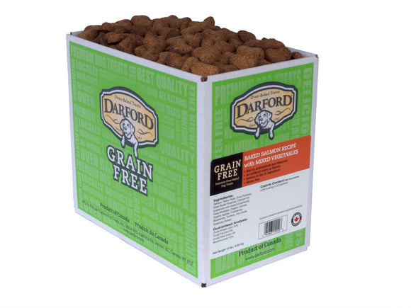 Darford Grain Free Baked Salmon Recipe with Mixed Vegetables Dog Treats 15 Lbs