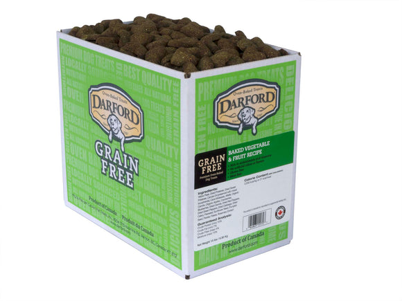 Darford Grain Free Baked Vegetable & Fruit Recipe Dog Treats 15 Lbs