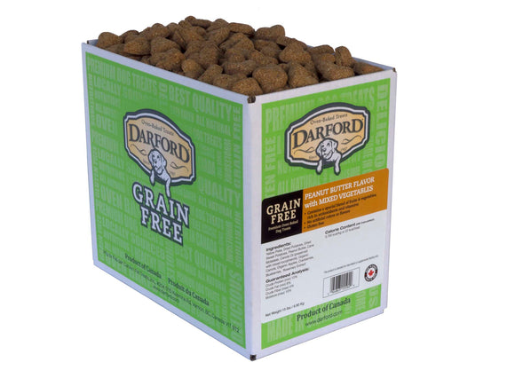 Darford Grain Free Peanut Butter Flavor with Mixed Vegetables Dog Treats 15 Lbs