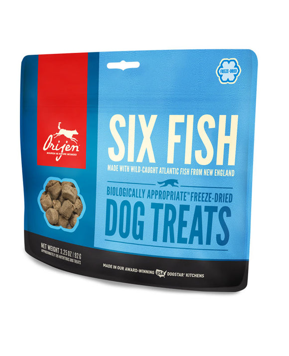Orijen Six Fish Biologically Appropriate Freeze-Dried Dog Treats 1.5 Oz
