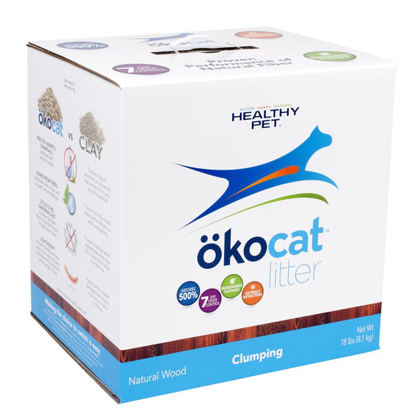 ökocat Clumping Wood Natural Cat Litter 19.8 Lbs