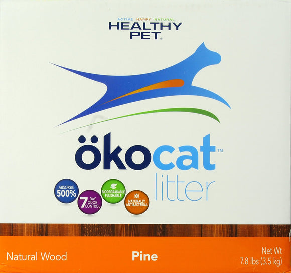 ökocat Cracked Pine Wood Natural Cat Litter 8.6 Lbs