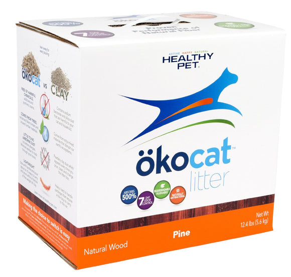 ökocat Cracked Pine Wood Natural Cat Litter 13.6 Lbs