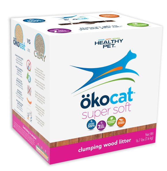 ökocat Super Soft Clumping Wood Cat Litter 16.7 Lbs
