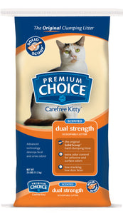 American Colloid Company Premium Choice Carefree Kitty Dual Odor Eliminator Clumping Litter 25 Lbs