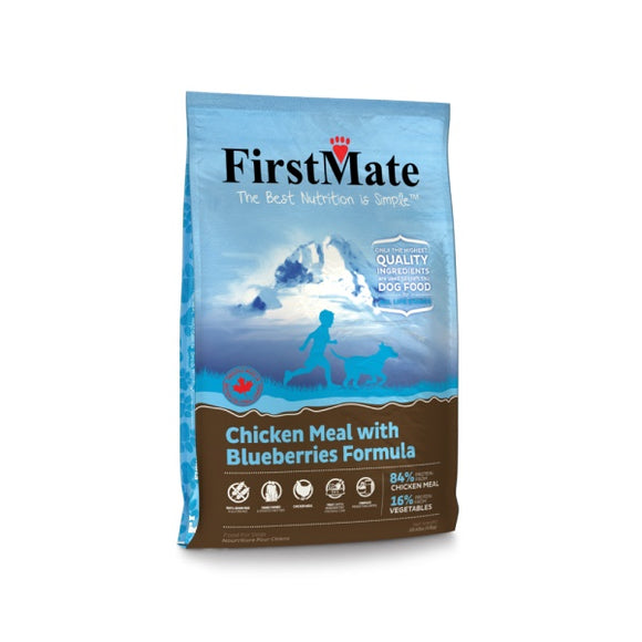 FirstMate Grain Free Chicken Meal with Blueberries Formula Dog Food 5 Lbs