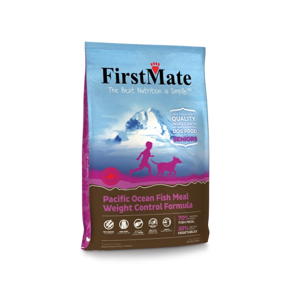 FirstMate Grain Free Pacific Ocean Fish Meal Weight Control Formula Dog Food 14.5 Lbs
