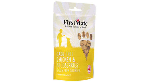 FirstMate Cage Free Chicken & Blueberries Dog Treats 10 Lbs