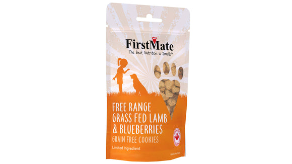 FirstMate Free Range Grass Fed Lamb & Blueberries Dog Treats 10 Lbs