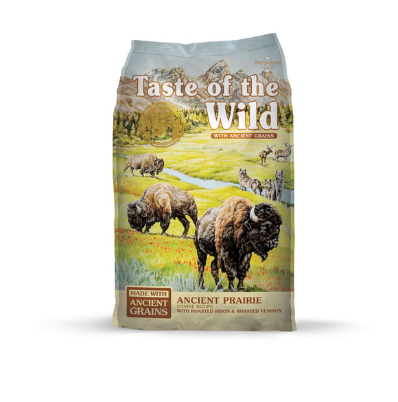 Taste of the Wild Ancient Prairie with Roasted Bison & Roasted Venison Dog Food 28 Lbs