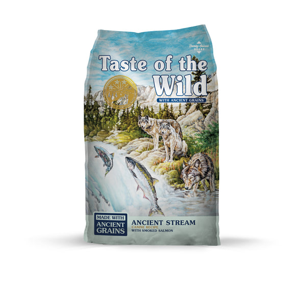 Taste of the Wild Ancient Stream with Smoked Salmon Dog Food 5 Lbs