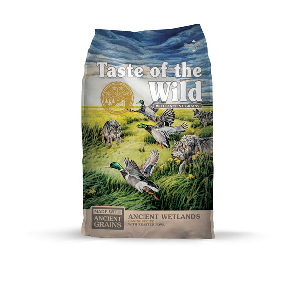 Taste of the Wild Ancient Wetlands with Roasted Fowl Dog Food 28 Lbs