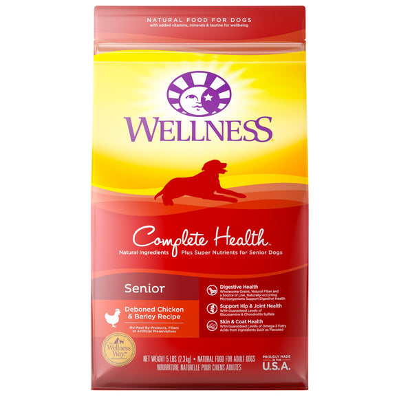 Wellness Complete Health Deboned Chicken & Barley Recipe Senior Dog Food 15 Lbs