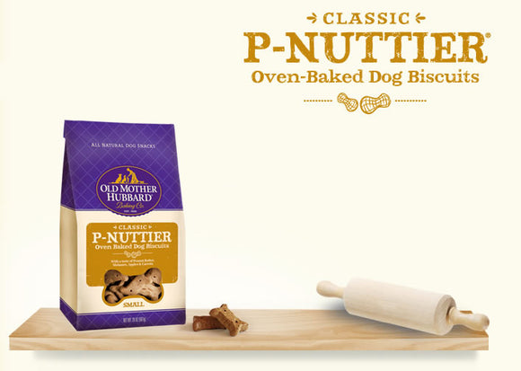 Old Mother Hubbard Classic P-Nuttier Oven-Baked Mini Dog Biscuits 5 Oz
