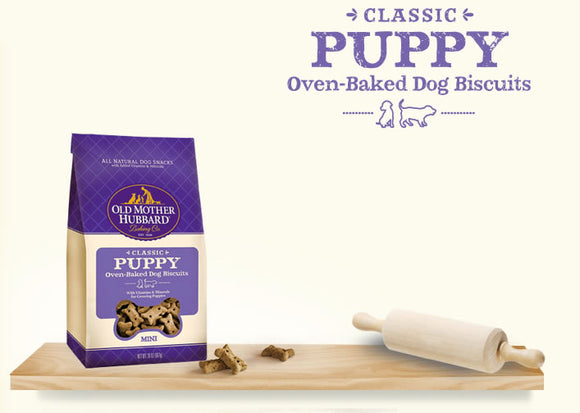 Old Mother Hubbard Classic Puppy Oven-Baked Mini Dog Biscuits 20 Oz