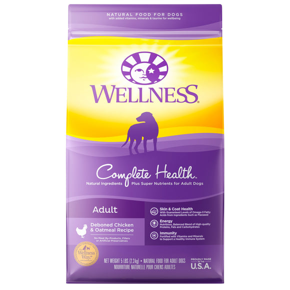 Wellness Complete Health Deboned Chicken & Oatmeal Recipe Adult Dog Food 5 Lbs