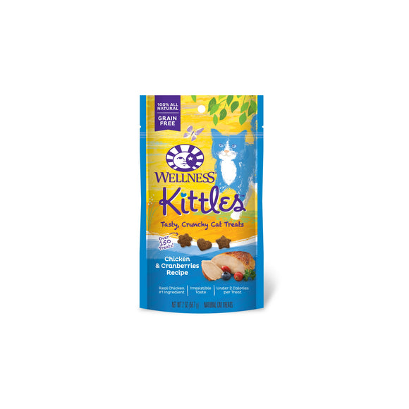 Wellness Complete Health Kittles Grain Free Chicken & Cranberries Recipe Cat Treats 2 Oz