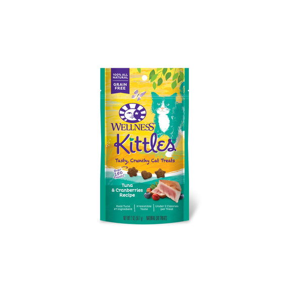 Wellness Complete Health Kittles Grain Free Tuna & Cranberries Recipe Crunchy Cat Treats 2 Oz