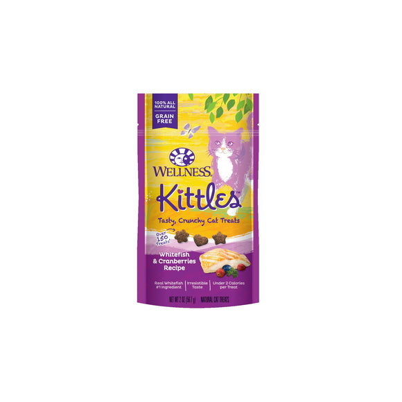 Wellness Complete Health Kittles Grain Free Whitefish & Cranberries Recipe Cat Treats 2 Oz
