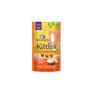 Wellness Complete Health Kittles Grain Free Turkey & Cranberries Recipe Crunchy Cat Treats 2 Oz
