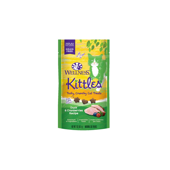Wellness Complete Health Kittles Grain Free Duck & Cranberries Recipe Cat Treats 2 Oz