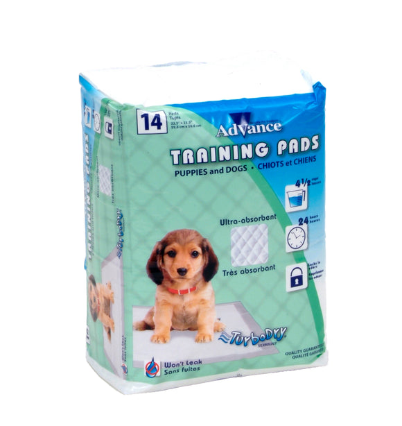 Coastal Advance Dog Training Pads with Turbo Dry Technology NCL Color 23 X 24 Inch 14 Count