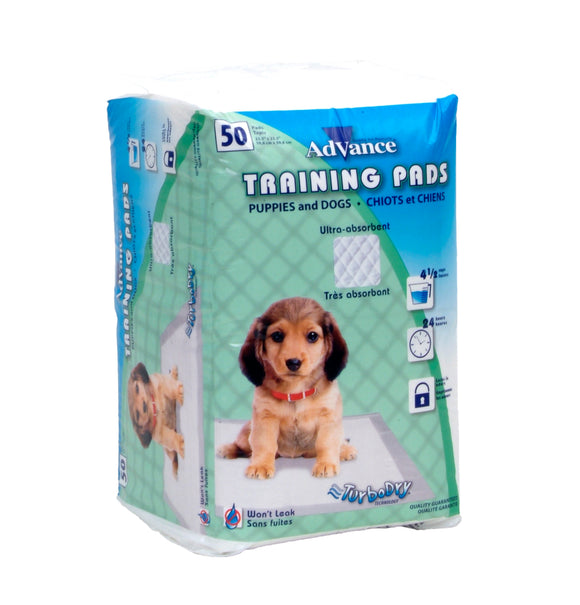 Coastal Advance Dog Training Pads with Turbo Dry Technology NCL Color 23 X 24 Inch 50 Count