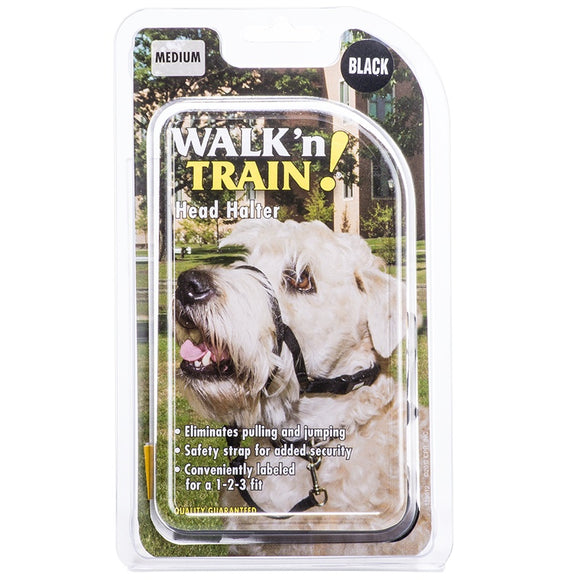 Coastal Walk 'n Train! Dog Head Halter Black Color Size 02