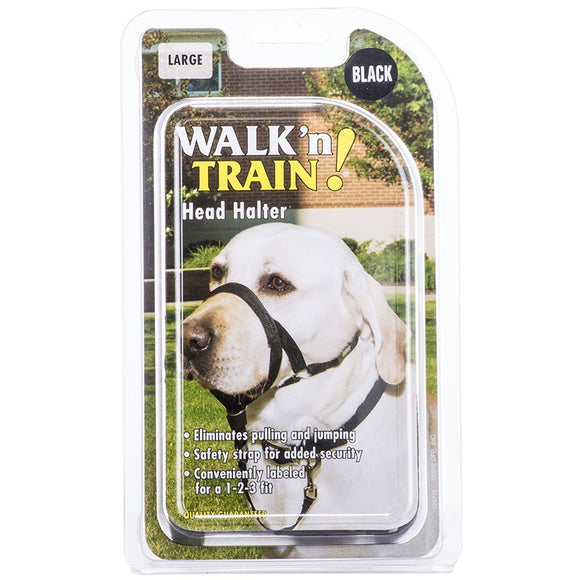 Coastal Walk 'n Train! Dog Head Halter Black Color Size 03