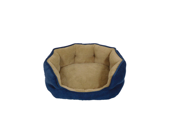 Arlee Pet Products OrthoLux Hudson Ortho Cozy Dog Bed Navy 21 X 17 X 7.5 Inch