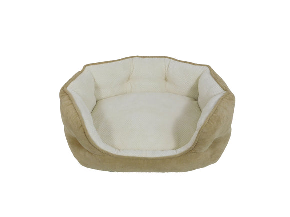 Arlee Pet Products OrthoLux Hudson Ortho Cozy Dog Bed Sand 34 X 27 X 11.5 Inch