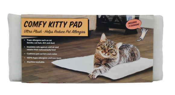 Arlee Pet Products Comfy Kitty Pad for Cat White 20 X 20 Inch X 2 Pack