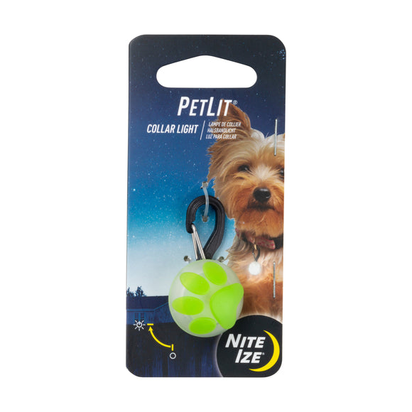 Nite Ize Petlit Collar Light for Dog Paw Color 1.73 X 0.97 X 0.62 Inch