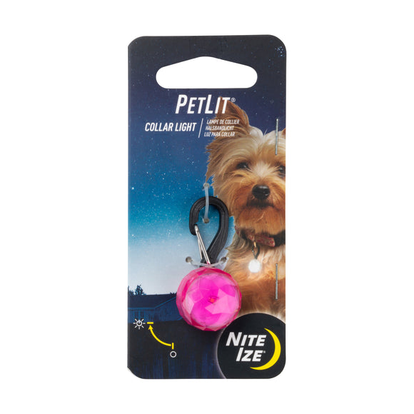 Nite Ize Petlit Collar Light for Dog Pink Color 1.73 X 0.97 X 0.62 Inch