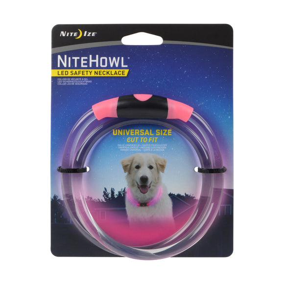 Nite Ize Nitehowl Led Safety Necklace for Dog Pink Color