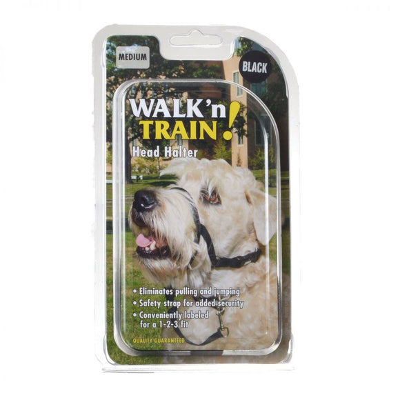 Coastal Pet Walk'n Train Head Halter (06100 BLK0)
