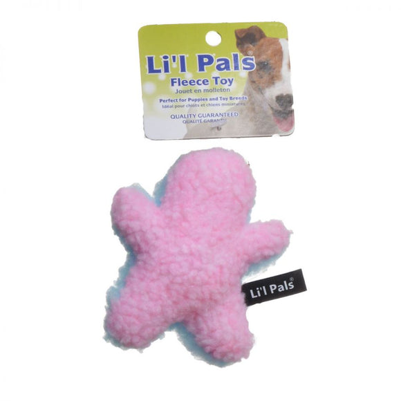 Li'l Pals Plush Man Dog Toy (84203PBLDO)