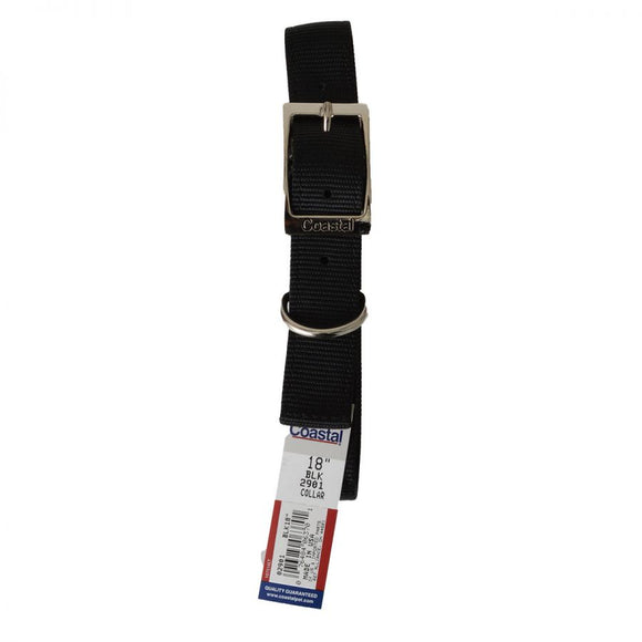 Coastal Pet Double Nylon Collar - Black (290118BK)